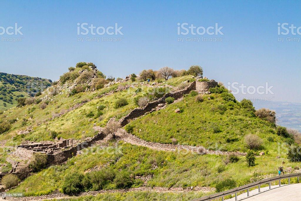 Ancient Jewish city of Gamla, Israel stock photo