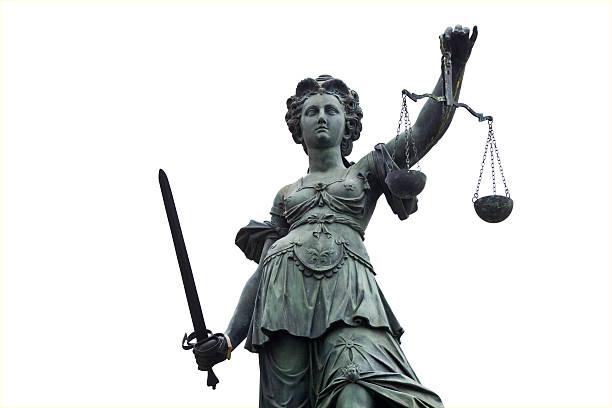 Alte Justicia, isoliert auf weiss – Foto