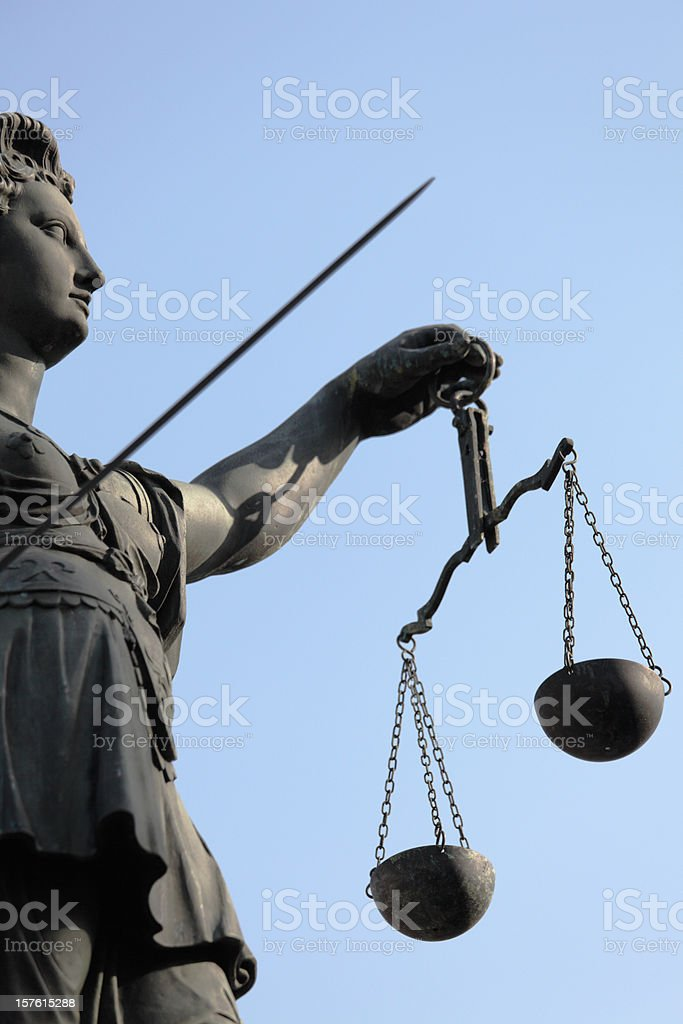 ancient Justitia royalty-free stock photo