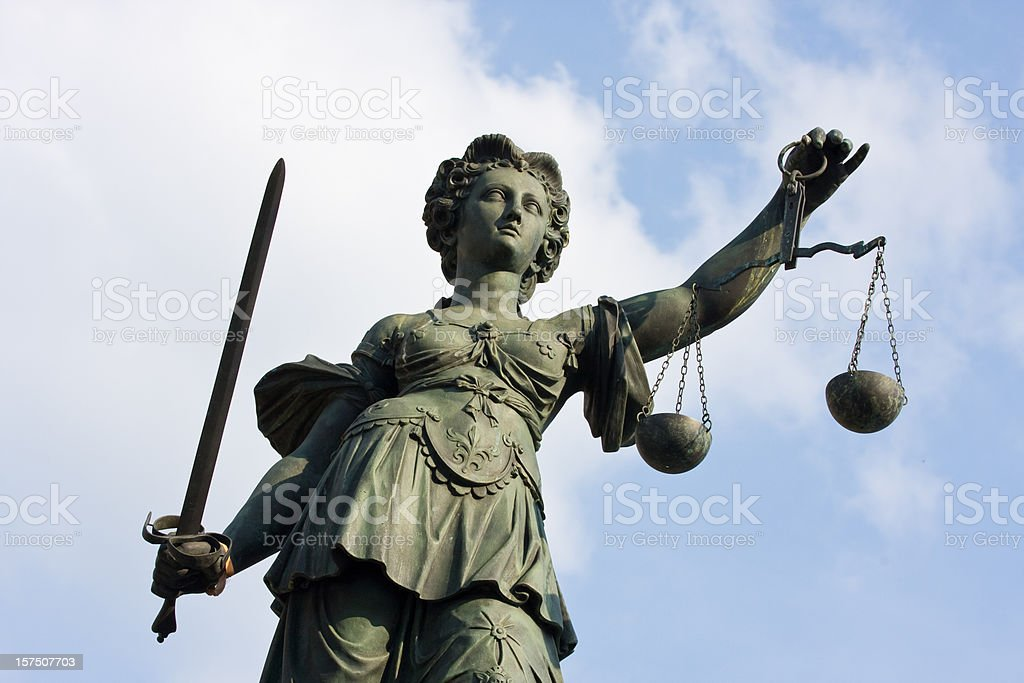 ancient Justitia statue royalty-free stock photo