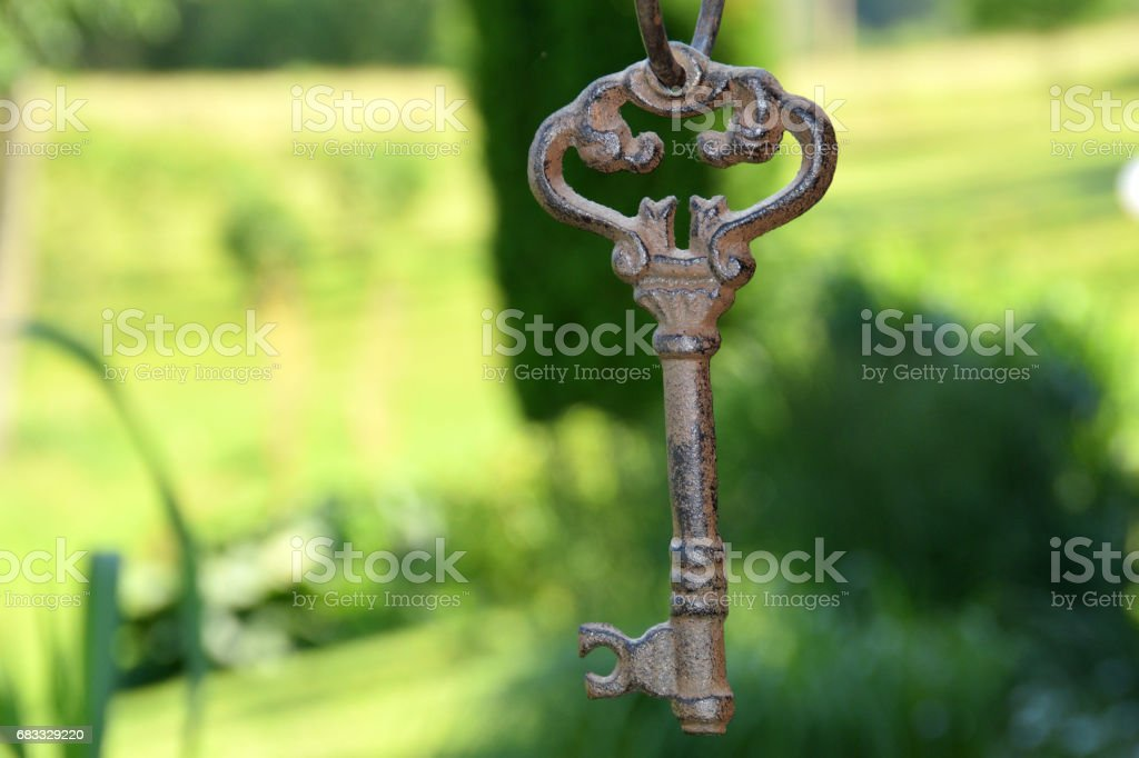 Ancient key. photo libre de droits