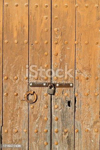 Old keyhole close up