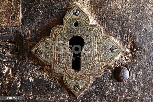 istock Ancient keyhole 1214528141