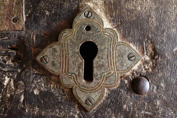 Ancient keyhole stock photo