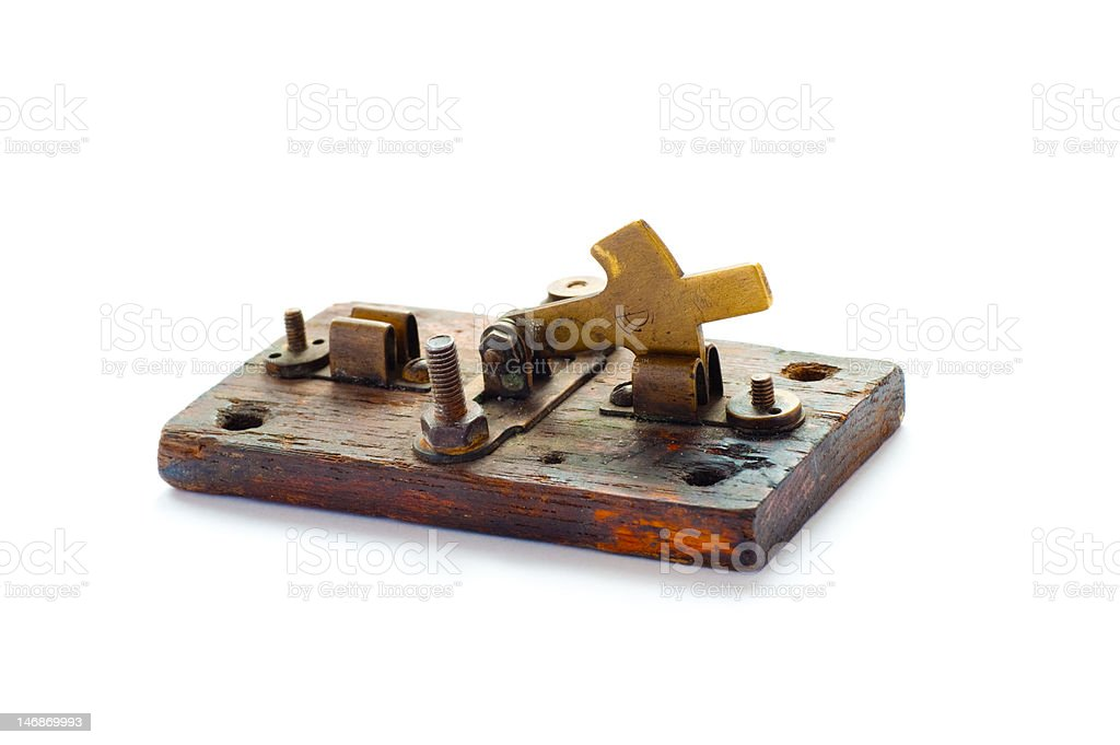 Ancient knife switch royalty-free stock photo