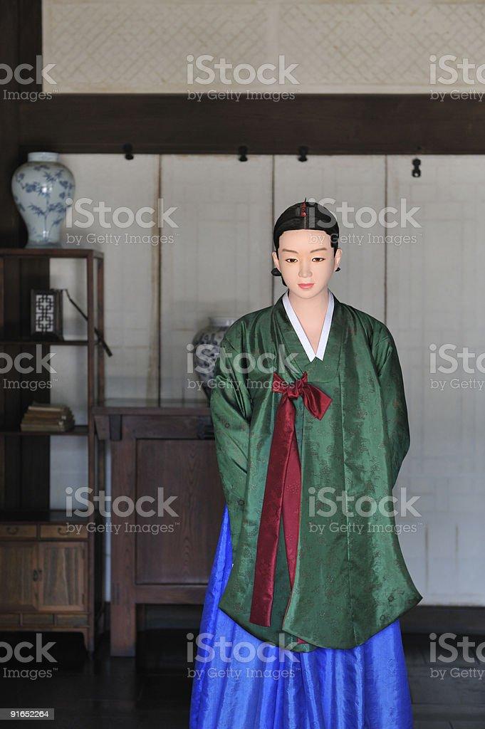 Ancient Korean Noblewoman, Copy Space stock photo