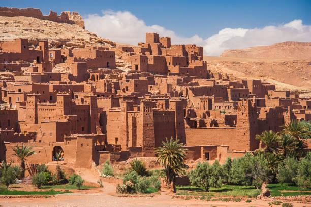 antika ksar ait benhaddou, marocko - kasbah bildbanksfoton och bilder