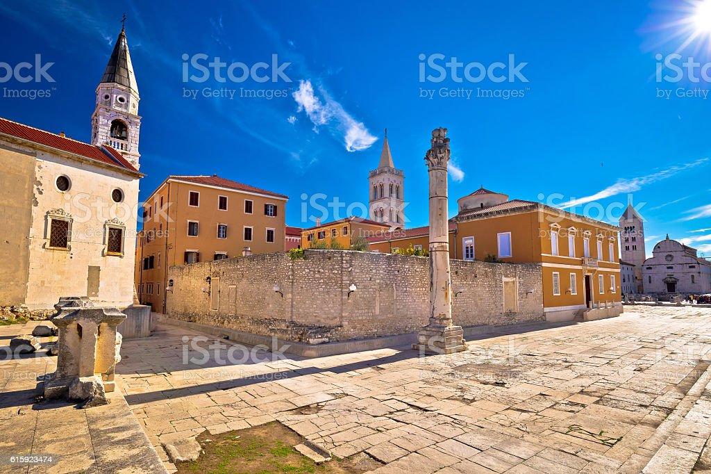 Ancient landmarks of Zadar view stock photo