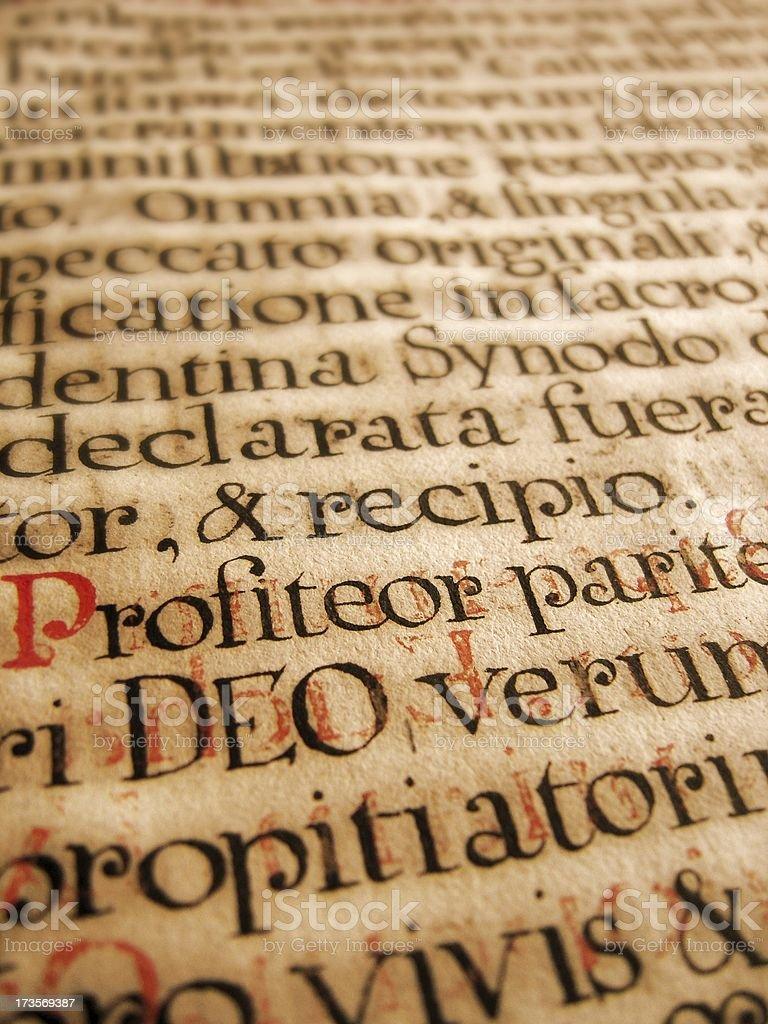 ancient latin handwriting stock photo