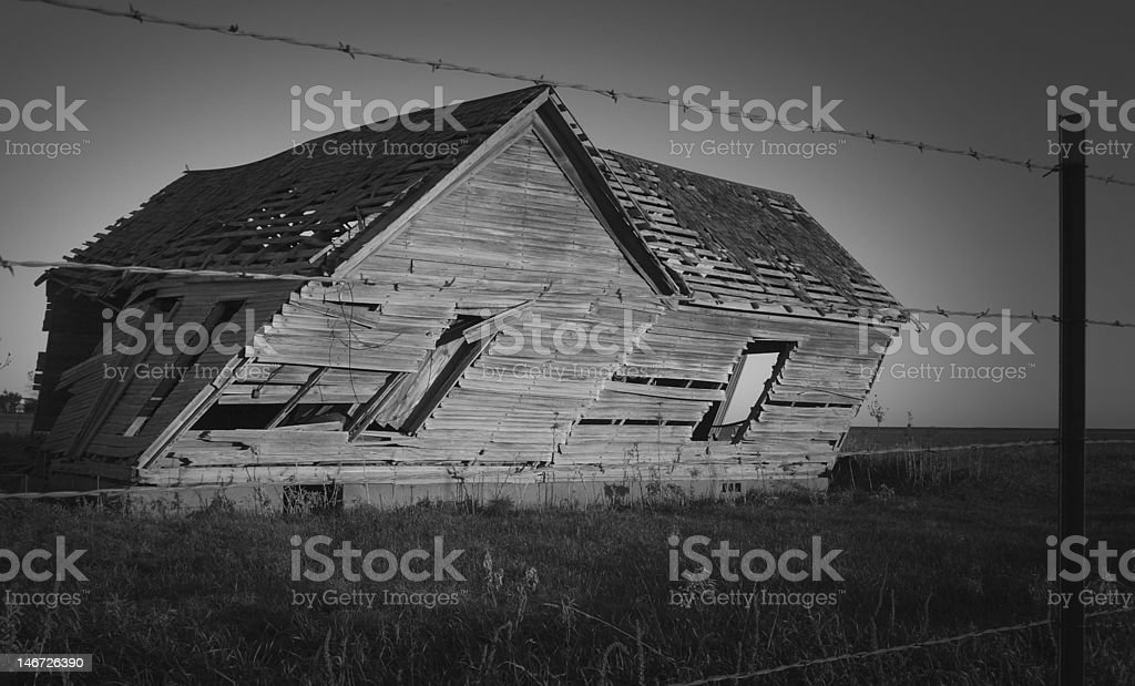 Ancient Leaning Home royalty-free stock photo