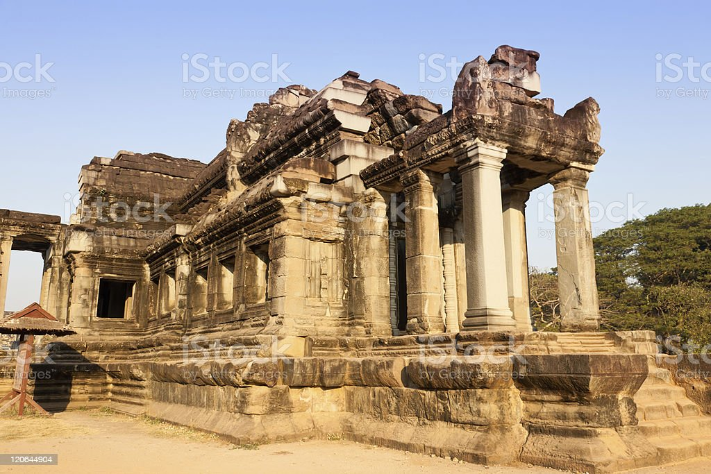 ancient library at Angkor Wat royalty-free stock photo