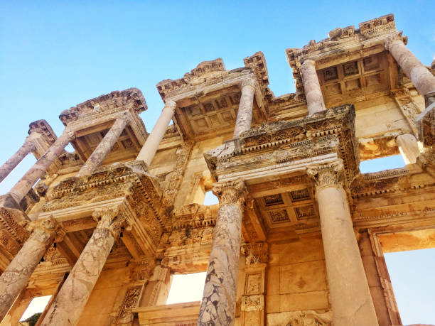 ancient library of ephesus ancient library of ephesus ephesus stock pictures, royalty-free photos & images