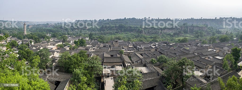 ancient local-style dwelling houses in China royalty-free stock photo