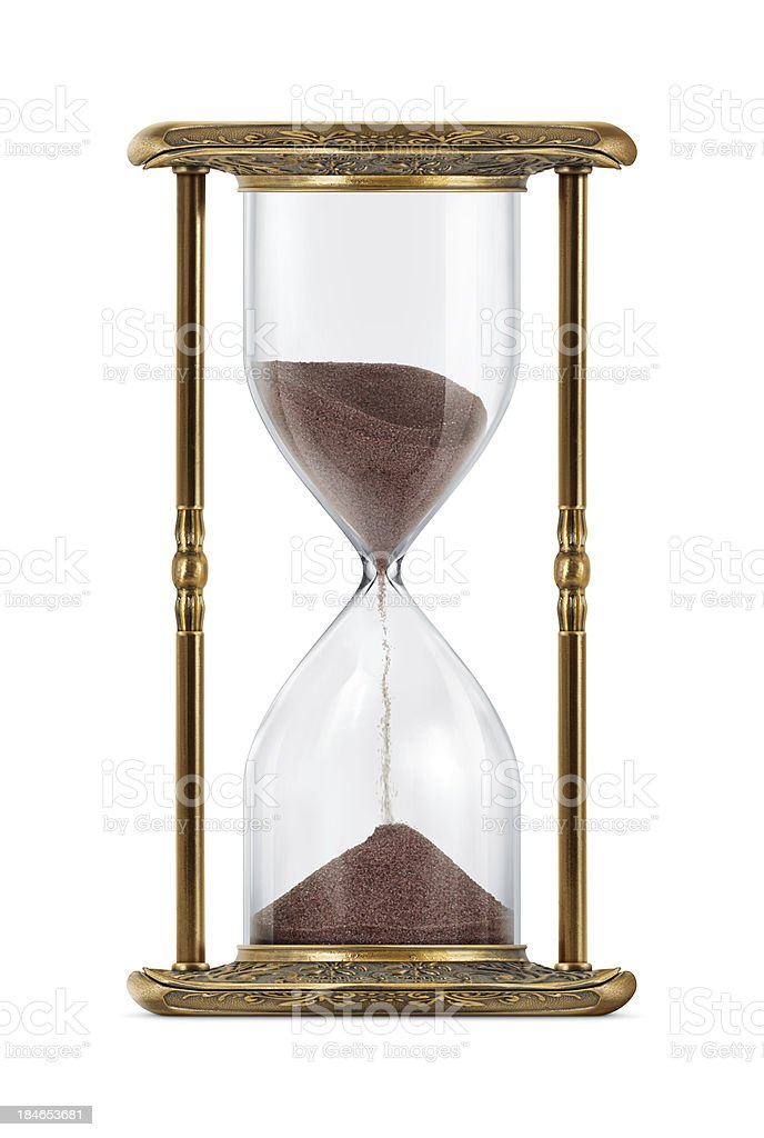 Ancient Looking Hourglass stock photo