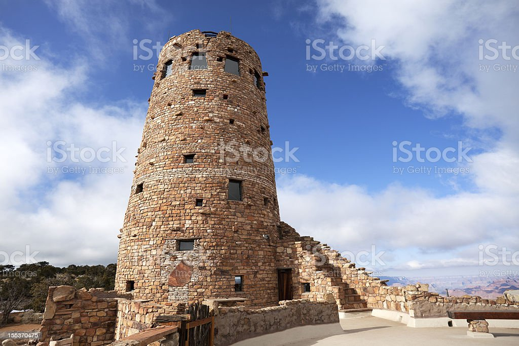 Ancient Lookout Tower, Grand Canyon Arizona royalty-free stock photo