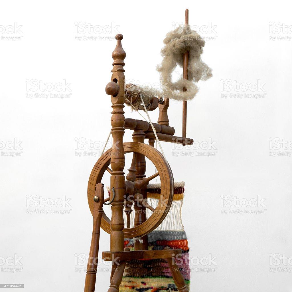 Ancient loom royalty-free stock photo