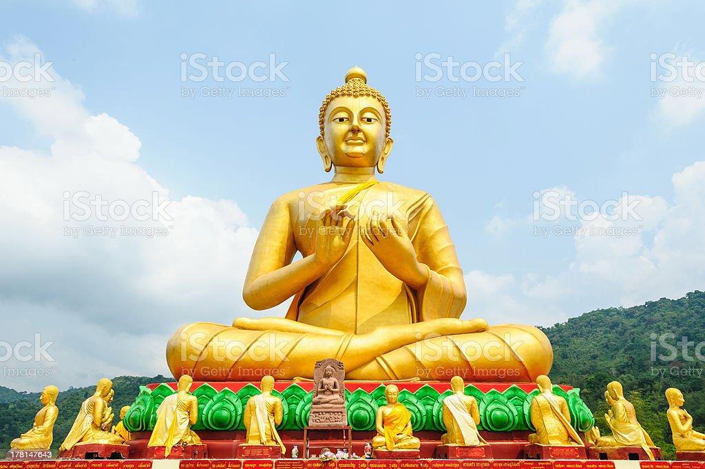 Ancient Lord Buddha Statue stock photo