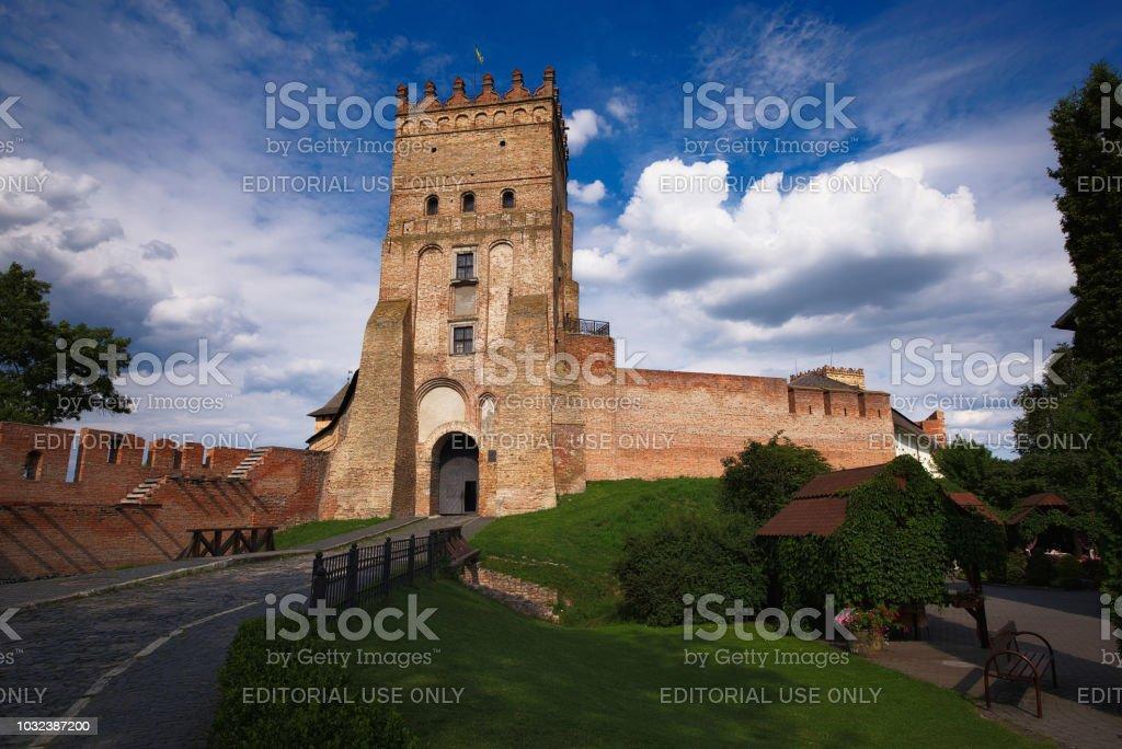 Ancient Lutsk Castle stock photo