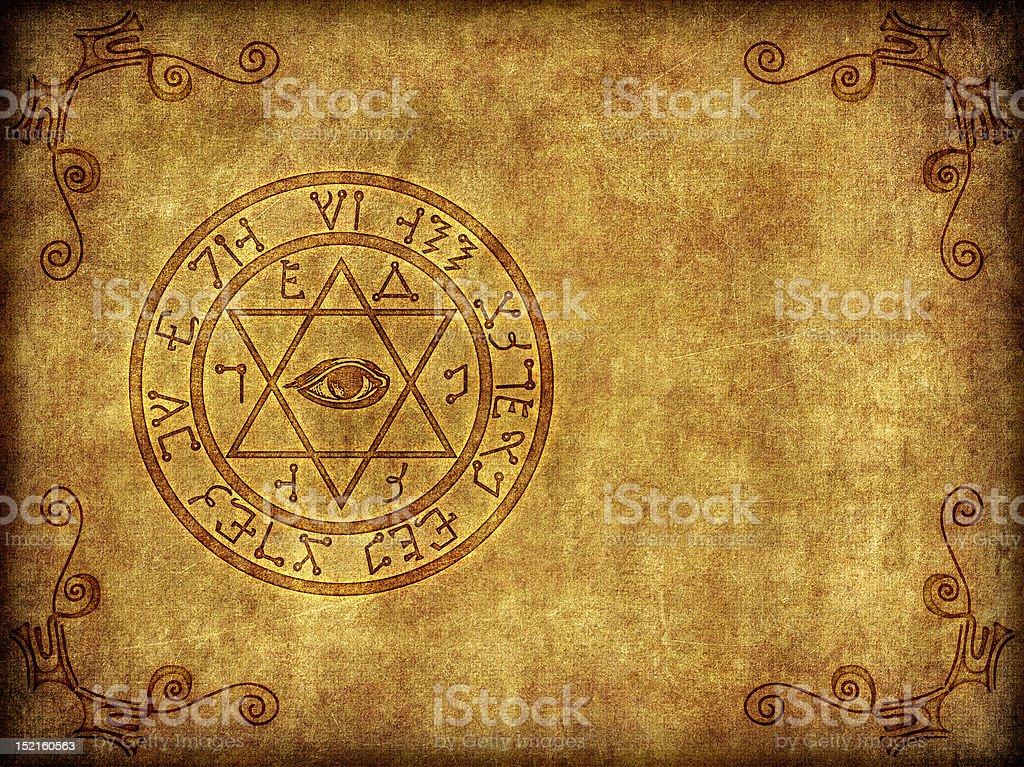 Ancient Magik Sigil Illustration stock photo