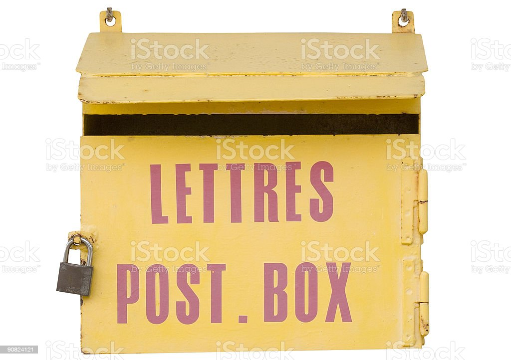 ancient mailbox in france royalty-free stock photo