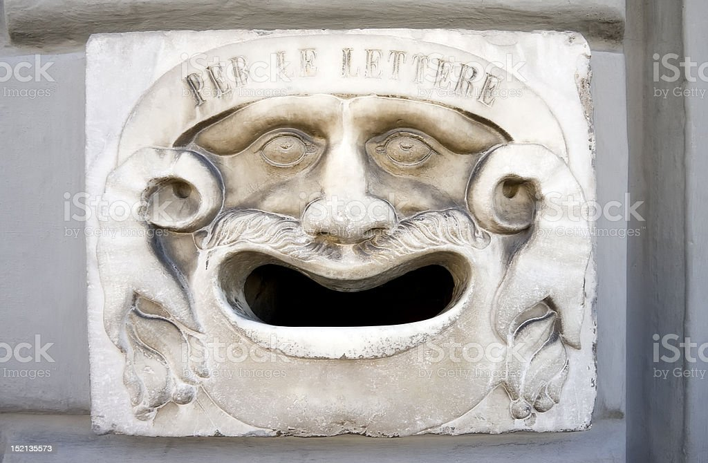 Ancient Mailbox in Pisa royalty-free stock photo