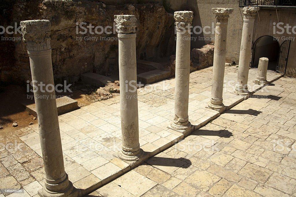 Ancient Main Road in Jerusalem royalty-free stock photo
