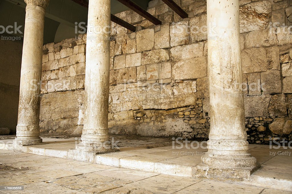 Ancient Main Road in Jerusalem stock photo