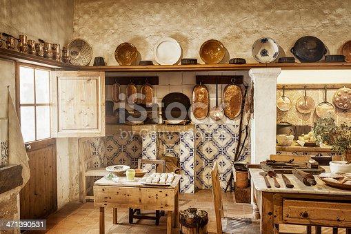 istock Ancient majorcan kitchen 471390531