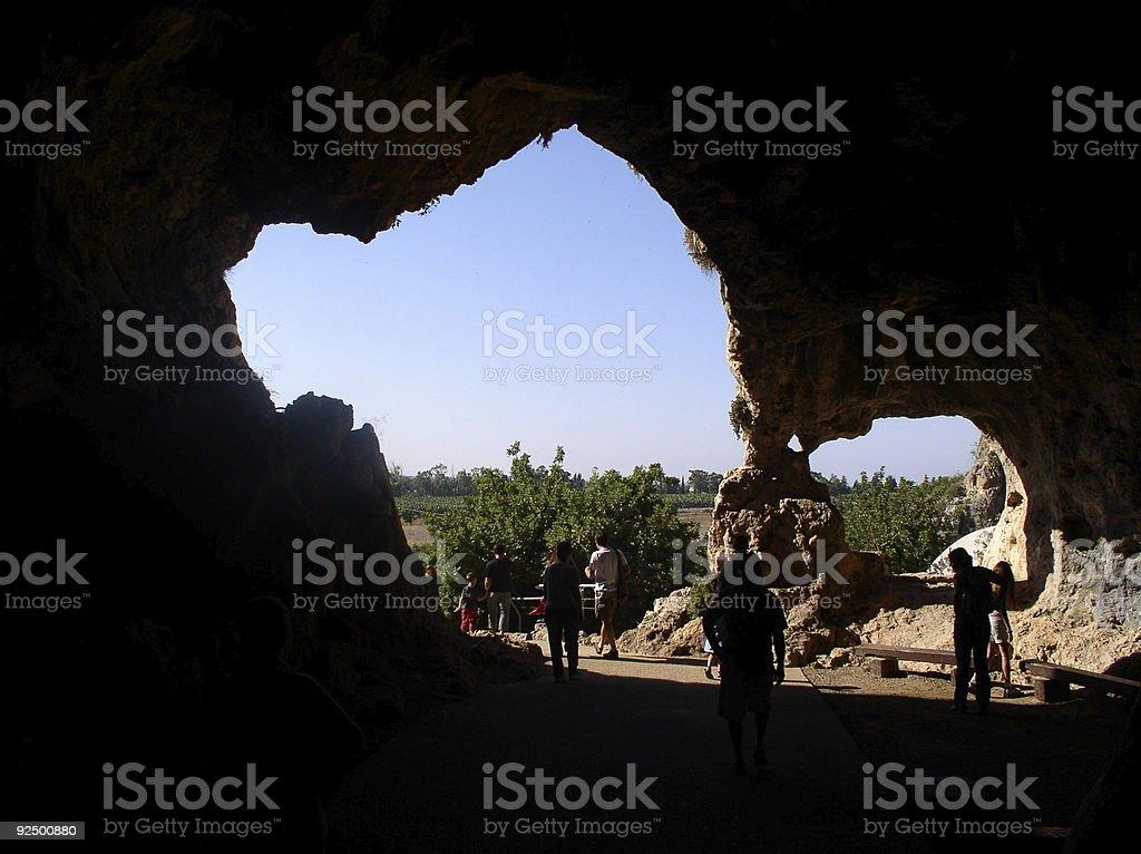 Ancient Man Cave royalty-free stock photo