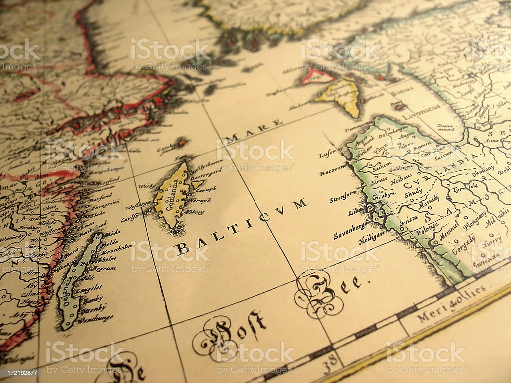 ancient map 2 royalty-free stock photo