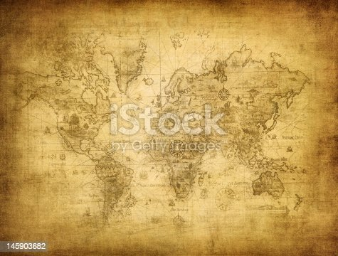 istock ancient map of the world 145903682