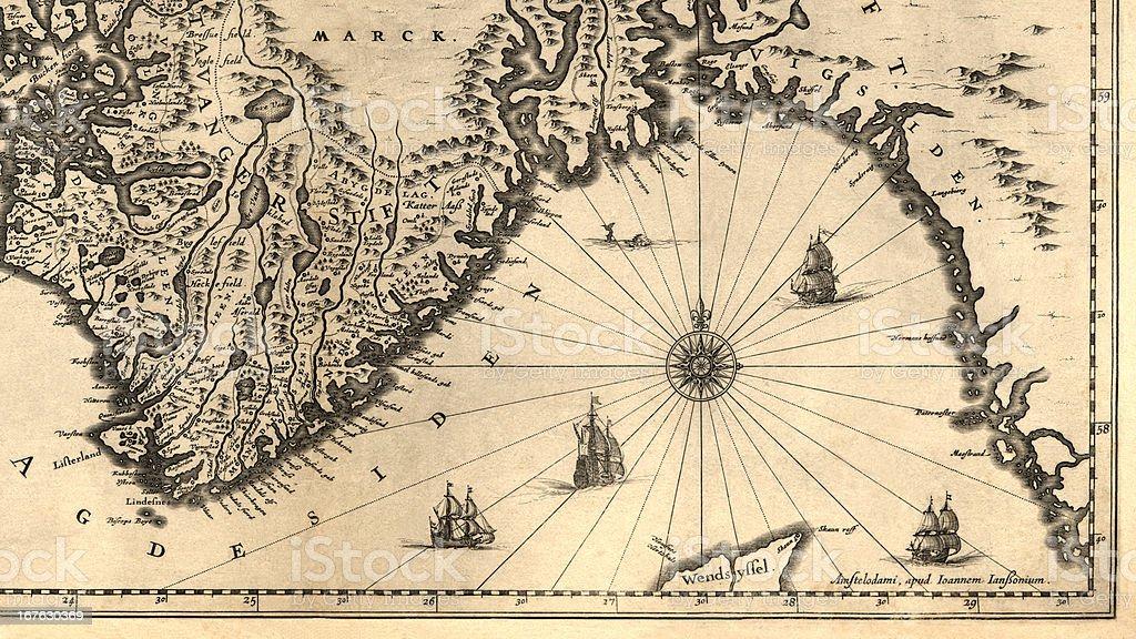 Antiguo Mapa - foto de stock