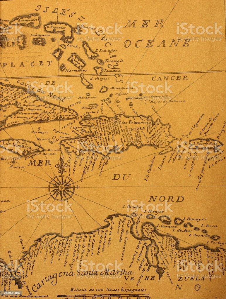 Antica mappa foto stock royalty-free