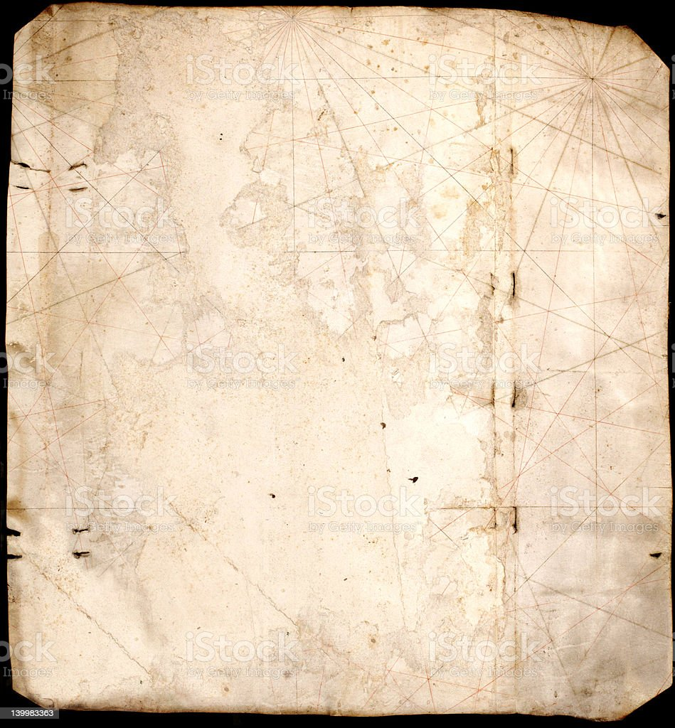 ancient map texture stock photo