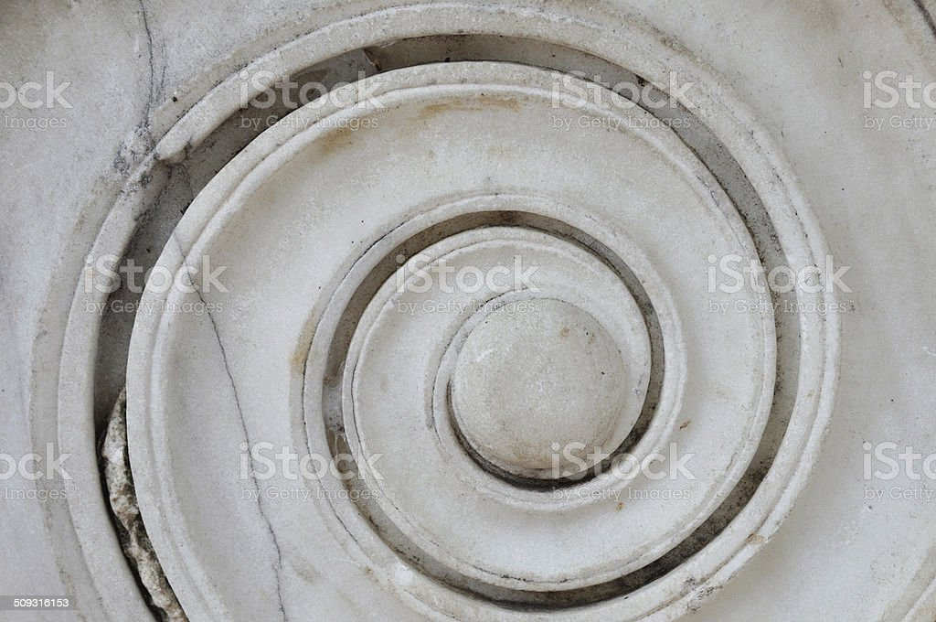 ancient marble spiral stock photo