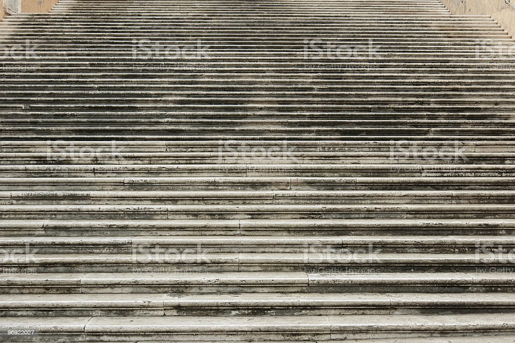 Ancient marble staircase on Capitol Hill in Rome, Italy royalty-free stock photo