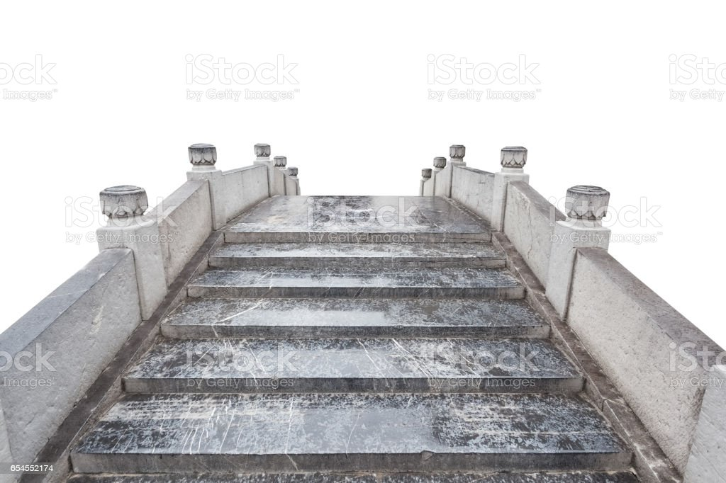 ancient masonry bridge isolated stock photo
