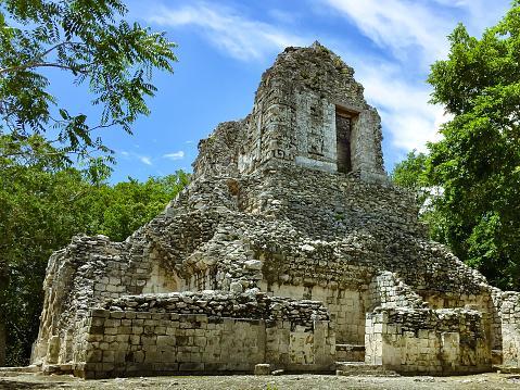 Xpujil 캄페체 멕시코에서에서 고 대 마 야의 파 멸 0명에 대한 스톡 사진 및 기타 이미지
