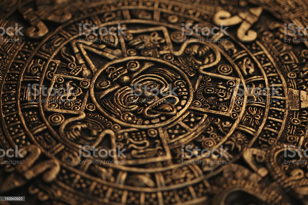 Ancient Mayan Calendar stock photo
