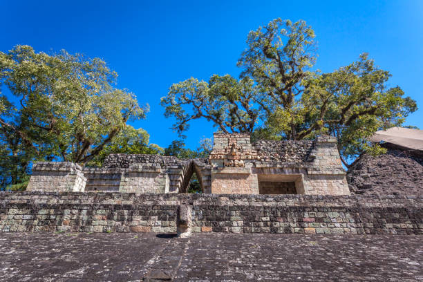 ancient Mayan city of Copan in Honduras stock photo