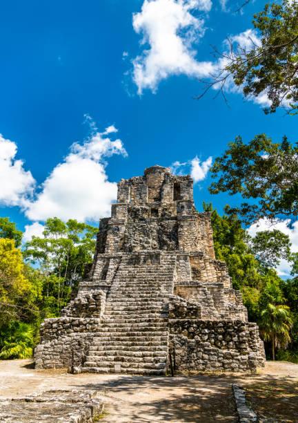 Alte Maya-Pyramide in Muyil in Quintana Roo, Mexiko – Foto