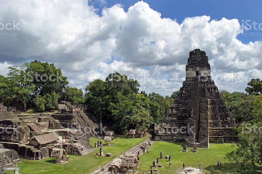 Ancient Mayan pyramid stock photo