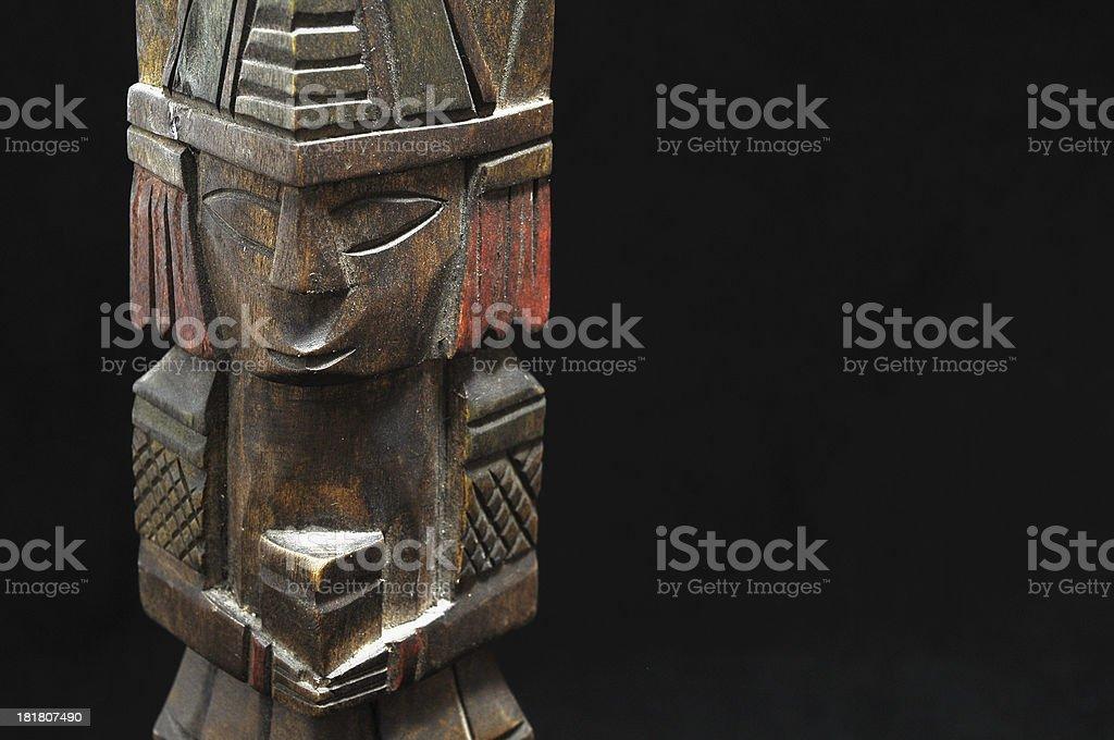Ancient Mayan Statue royalty-free stock photo