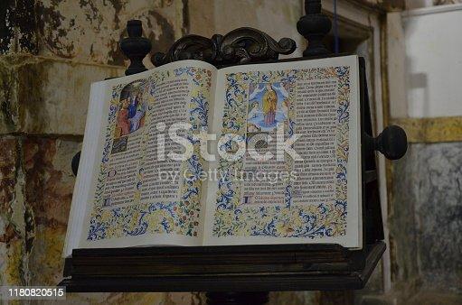 Ancient medieval book in a church