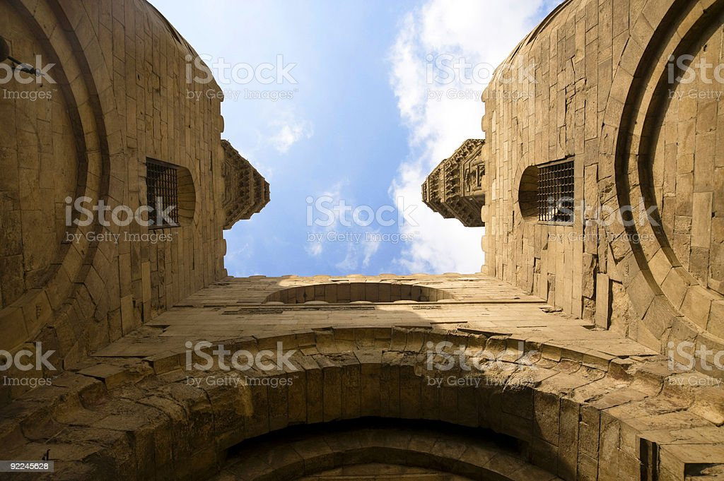 Ancient Medieval Gate stock photo