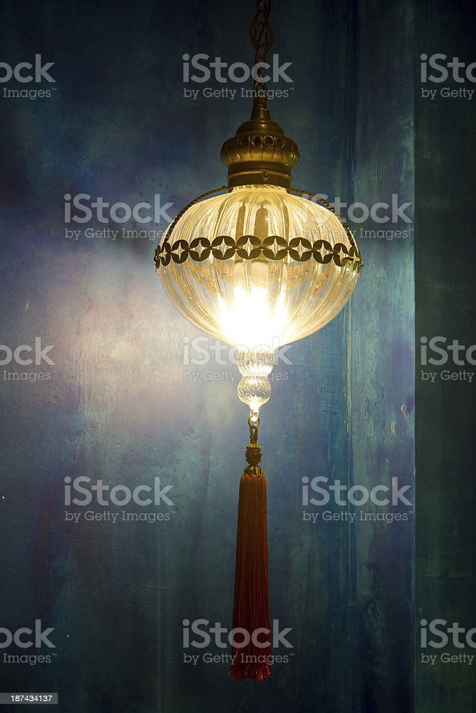 ancient metal lantern royalty-free stock photo