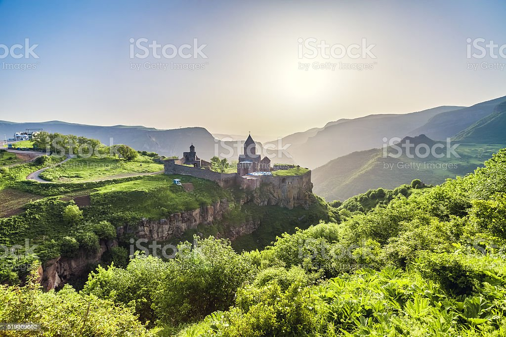 Ancient monastery. Tatev. Armenia stock photo