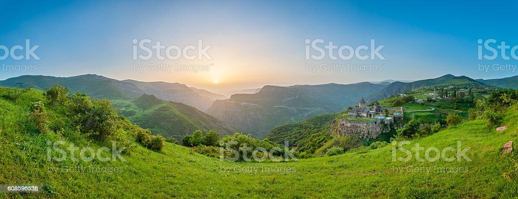 Ancient monastery. Tatev. Armenia stock photo