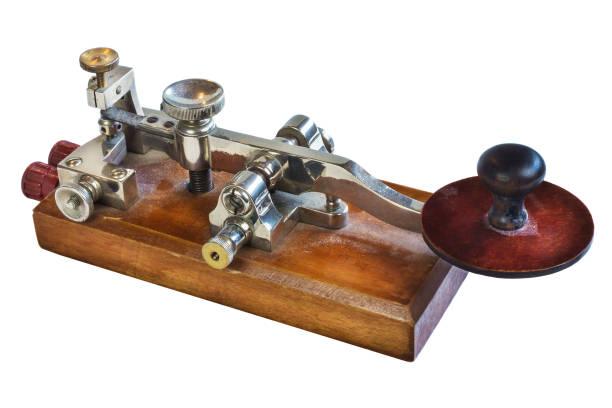 Appareil de télégraphie ancienne morse code - Photo
