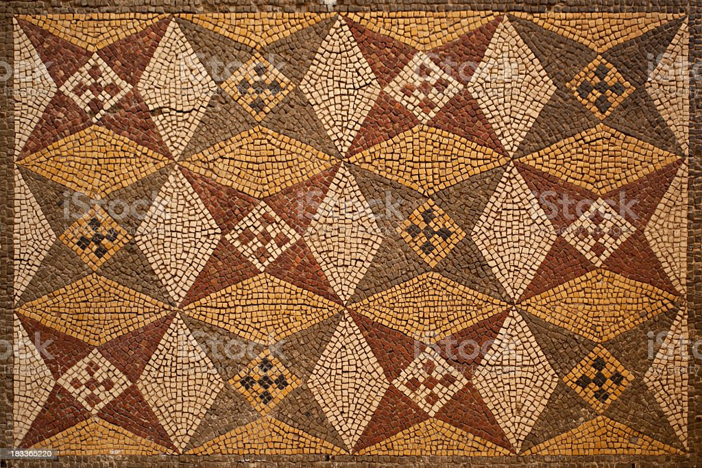 Ancient Mosaic Background royalty-free stock photo